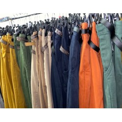 PANTALON TOILE MARRON GLACE