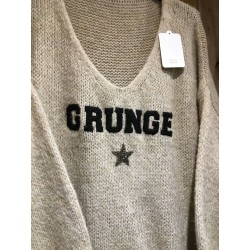 PULL GROSSE MAILLE GRUNGE
